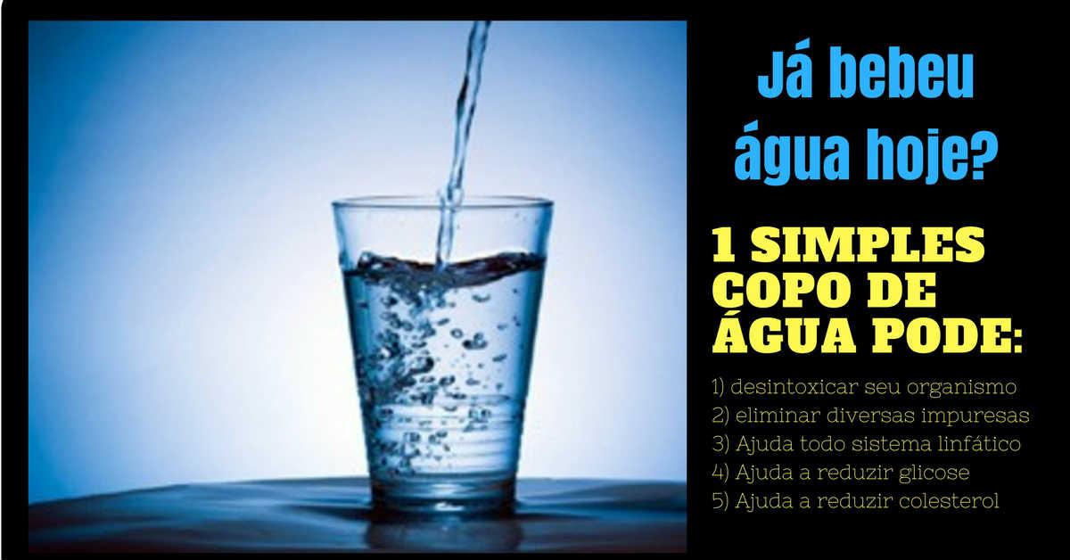 dieta da água emagrece e faz um bem a saude